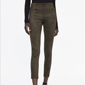 Zara faux suede leggings